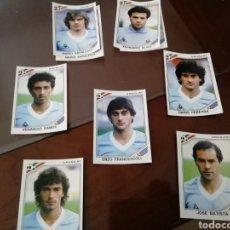 Coleccionismo deportivo: CROMOS URUGUAY. MUNDIAL MÉXICO 86. LOTE DE 7. FRANCESCOLI. Lote 168902468