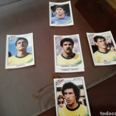 Coleccionismo deportivo: CROMOS DE BRASIL. MUNDIAL MÉXICO 86 LOTE DE 5 CROMOS.. Lote 168929912