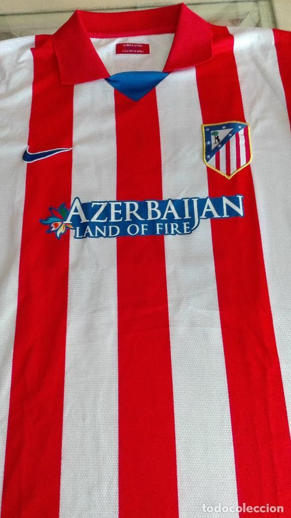CAMISETA ATLETICO DE MADRID AZERBAIJAN VER FOTOS PARTE TRASERA LEER DESCRIPCIÓN (Coleccionismo Deportivo - Material Deportivo - Fútbol)