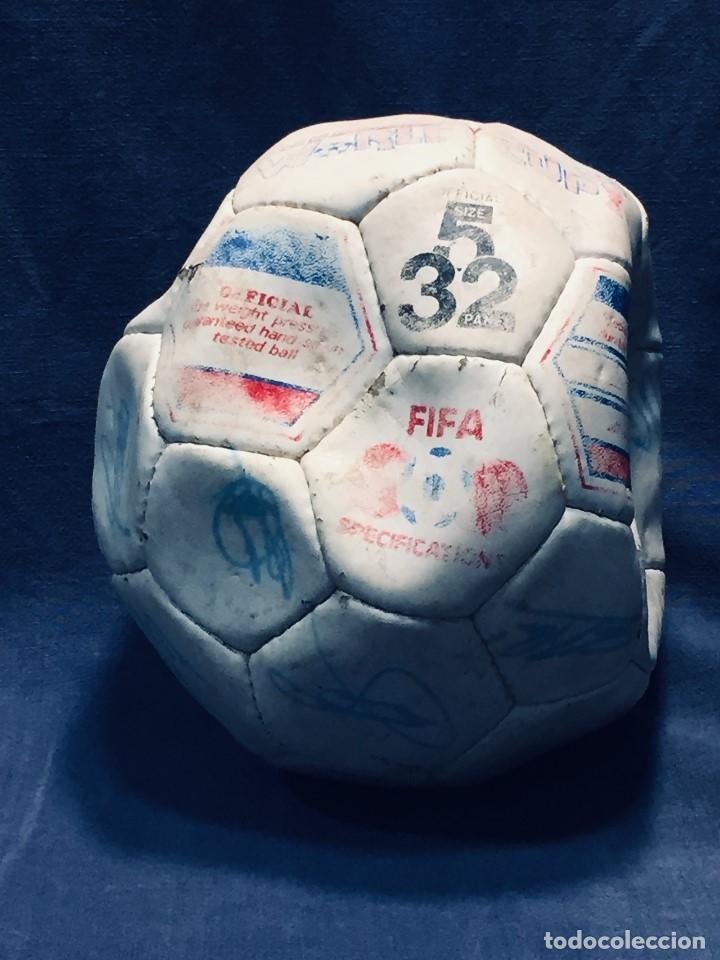 BALON FUTBOL OFICIAL WORLD CUP FIFA WORLD CUP AÑOS 80 ESPAÑA FIRMADO FIRMAS VER FOTOS (Coleccionismo Deportivo - Material Deportivo - Fútbol)