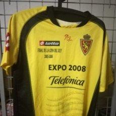 Coleccionismo deportivo: REAL ZARAGOZA FINAL COPA REY M CAMISETA FUTBOL FOOTBALL SHIRT . Lote 173013602