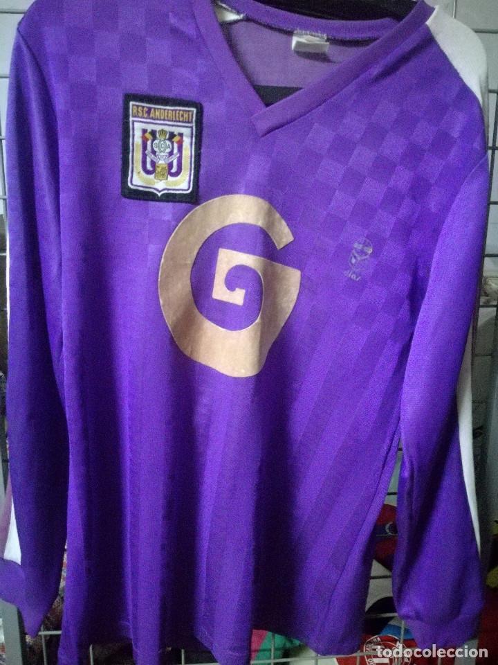 ANDERLECHT 1980 VINTAGE BELGIQUE L CAMISETA FUTBOL FOOTBALL SHIRT (Coleccionismo Deportivo - Material Deportivo - Fútbol)