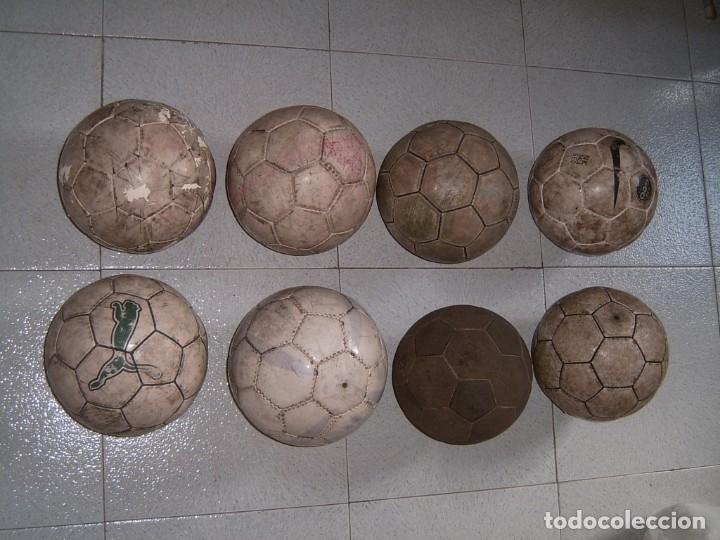 LOTE DE 8 BALONES DE FUTBOL SALA (Coleccionismo Deportivo - Material Deportivo - Fútbol)