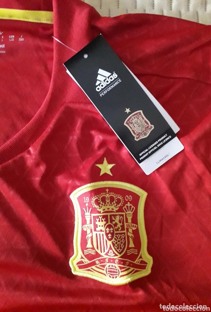 Coleccionismo deportivo: Camiseta de la selección española firmada por Lopetegui - Foto 3 - 173672317