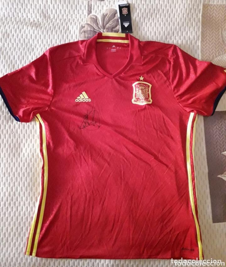 CAMISETA DE LA SELECCIÓN ESPAÑOLA FIRMADA POR LOPETEGUI (Coleccionismo Deportivo - Material Deportivo - Fútbol)