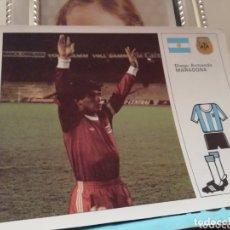 Coleccionismo deportivo: MUNDIAL 1982 ESPAÑA. FICHA DE MARADONA Y SELECCIÓN ARGENTINA.. Lote 174271847