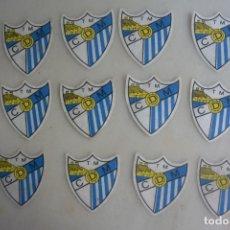 Coleccionismo deportivo: LOTE 12 ESCUDOS FUTBOL PARA CAMISETA DE RCD MALAGA. AÑOS 60-70. Lote 175333814