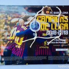 Coleccionismo deportivo: FCBARCELONA - RED DE LA PORTERIA DEL CAMP NOU - CERTIFICADO BAJO NOTARIO. Lote 175844694