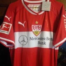 Coleccionismo deportivo: STUTTGART MARIO GOMEZ SIGNED TRIKOT GERMANY LEGEND L CAMISETA FUTBOL FOOTBALL SHIRT. Lote 176070208