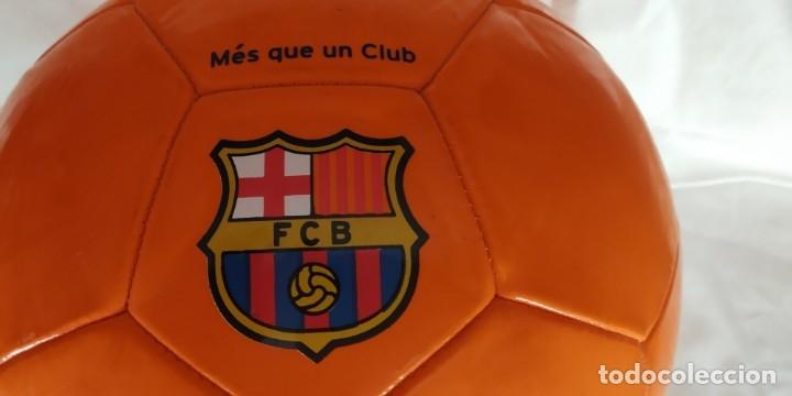 BALON DE FUTBOL NIKE NARANJA ESCUDO F C BARCELONA LETRAS BARÇA NUEVO (Coleccionismo Deportivo - Material Deportivo - Fútbol)