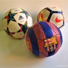 Coleccionismo deportivo: LOTE 3 BALONES DE FUTBOL VARIOS. Lote 177714852