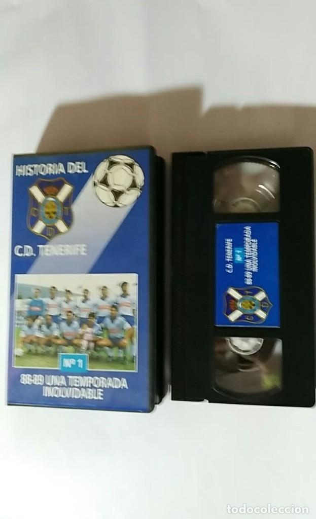 Coleccionismo deportivo: VHS HISTORIA DEL C.D.TENERIFE Nº1 88-89 UNA TEMPORADA INOLVIDABLE - Foto 3 - 179026088