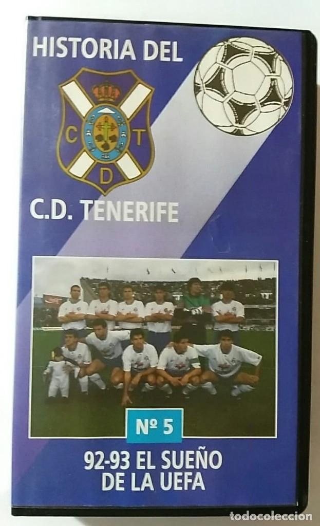 VHS HISTORIA DEL C.D.TENERIFE Nº5 92-93 EL SUEÑO DE LA UEFA (Coleccionismo Deportivo - Material Deportivo - Fútbol)