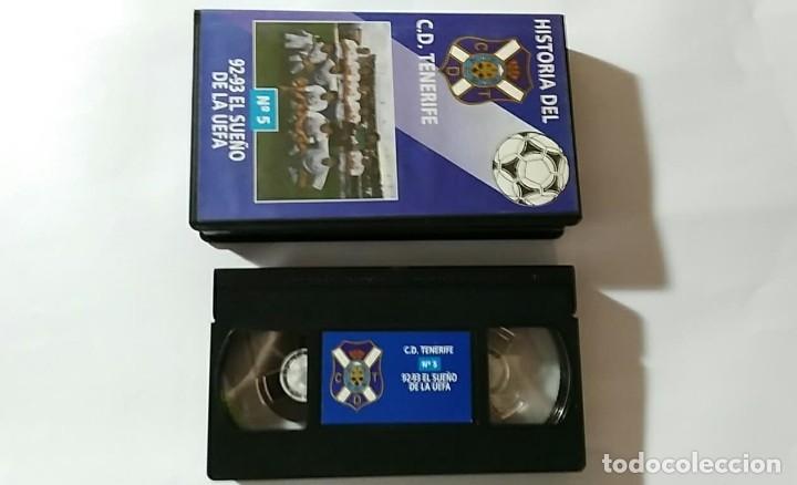 Coleccionismo deportivo: VHS HISTORIA DEL C.D.TENERIFE Nº5 92-93 EL SUEÑO DE LA UEFA - Foto 3 - 179027320