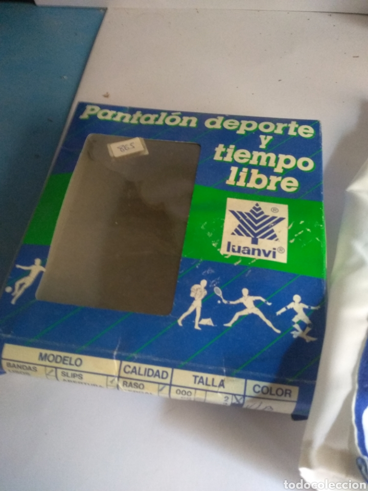 Coleccionismo deportivo: Pantalon corto vintage años 80 Luanvi talla 2 - Foto 2 - 181585131