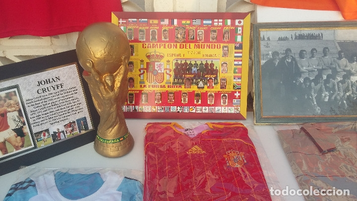 LOTE SELECCION ESPAÑOLA ( MATERIAL VARIADO ): ESPECIAL (Coleccionismo Deportivo - Material Deportivo - Fútbol)