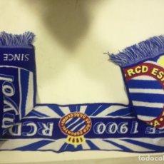 Coleccionismo deportivo: RCD ESPANYOL BUFANDA SCARF FOOTBALL FUTBOL. Lote 182799597
