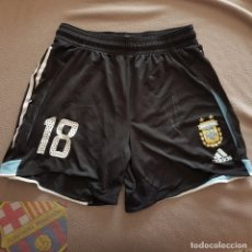 Coleccionismo deportivo: FC BARCELONA BARÇA ARGENTINA EXCLUSIVOS PANTALONES MATCH WORN #18 FIRMADOS LEO MESSI. Lote 182951145