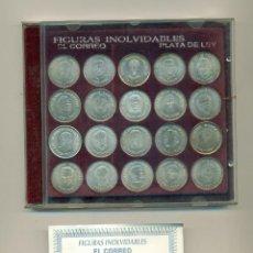 Coleccionismo deportivo: COLECCION COMPLETA DE MONEDAS EN PLATA DE LEY DE FIGURAS INOLVIDABLES DEL ATHLETIC CLUB DE BILBAO. Lote 183413621