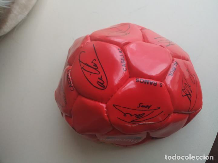 Coleccionismo deportivo: Balón de fútbol Selección Española Mundial 2010. Cruzcampo - Foto 4 - 224665178