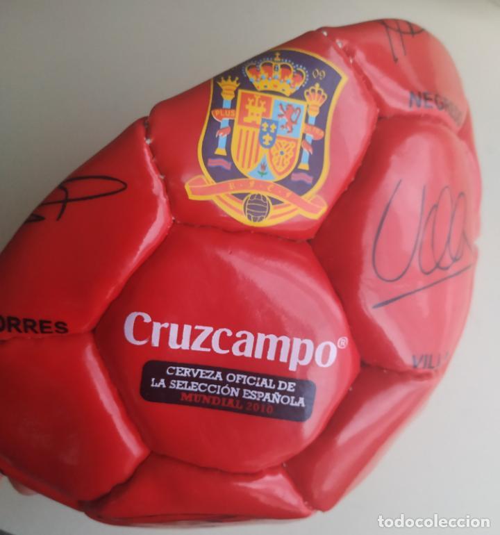 BALÓN DE FÚTBOL SELECCIÓN ESPAÑOLA MUNDIAL 2010. CRUZCAMPO (Coleccionismo Deportivo - Material Deportivo - Fútbol)