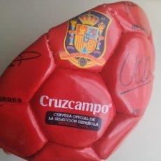 Coleccionismo deportivo: BALÓN DE FÚTBOL SELECCIÓN ESPAÑOLA MUNDIAL 2010. CRUZCAMPO. Lote 224665178