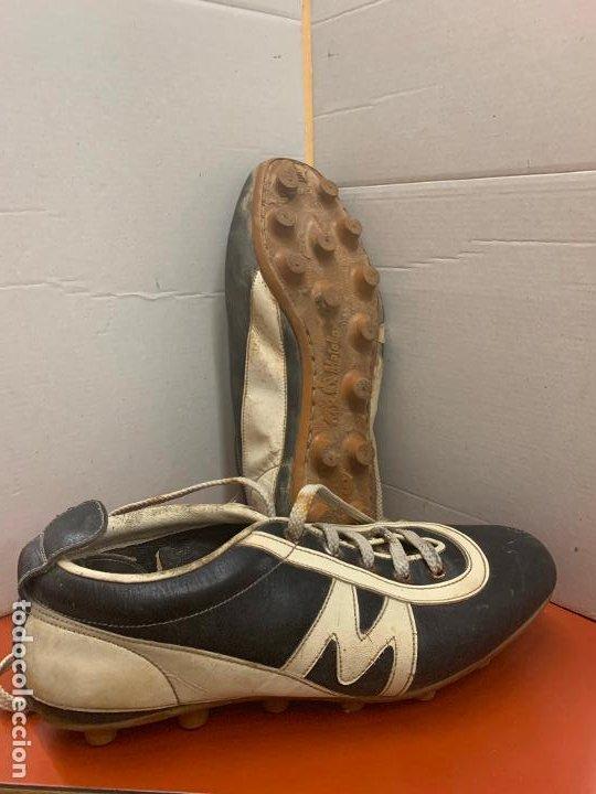 Coleccionismo deportivo: Antiguas botas de futbol, marca Flex Matollo, num. 39. ideal coleccionismo - Foto 5 - 184578011