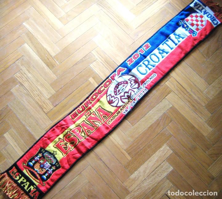 BUFANDA ESPAÑA – CROACIA CROATIA EUROCUP 2012 EUROCOPA SCIARPA SCHAL SCARF SCARV (Coleccionismo Deportivo - Material Deportivo - Fútbol)