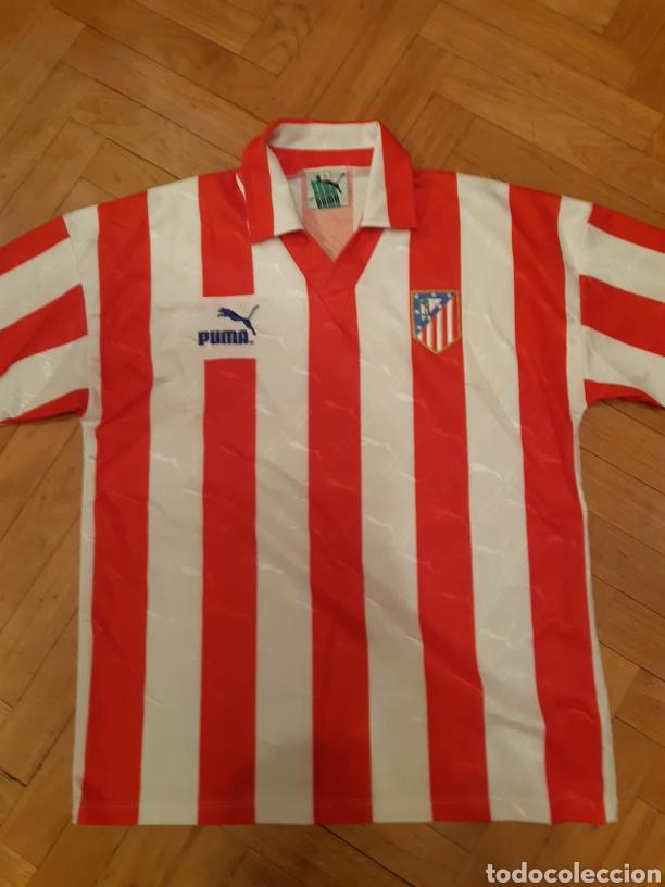 CAMISETA ATLETICO DE MADRID.TEMPORADA 83-84. (Coleccionismo Deportivo - Material Deportivo - Fútbol)