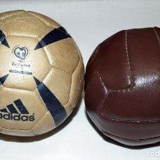 Coleccionismo deportivo: LOTE DE DOS MINI BALONES. Lote 187445596