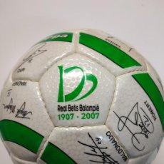 Coleccionismo deportivo: BALÓN OFICIAL DEL CENTENARIO DEL REAL BETIS BALOMPIÉ 2007. Lote 189360776