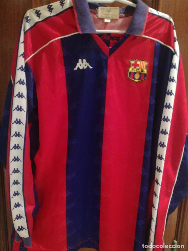 FC BARCELONA 1993-94 DORSAL 8 XL CAMISETA FUTBOL FOOTBALL SHIRT (Coleccionismo Deportivo - Material Deportivo - Fútbol)