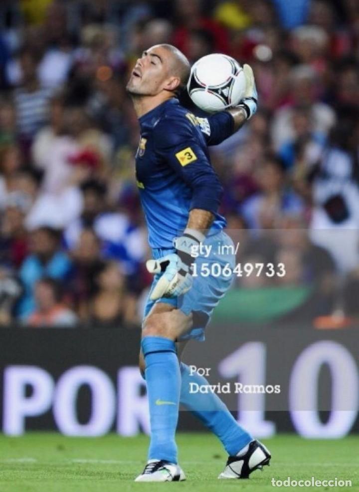Coleccionismo deportivo: (F-191262)BOTAS DE VICTOR VALDES - F.C.BARCELONA - MARCA PENALTY - MATCH WORN - Foto 2 - 189567927
