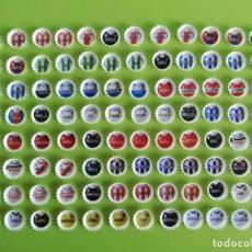 Coleccionismo deportivo: GREFUCHAPAS 2011-12 11 12 LOTE DE 98 CHAPAS DISTINTAS + ALBUM GREFULIGA. Lote 191631463