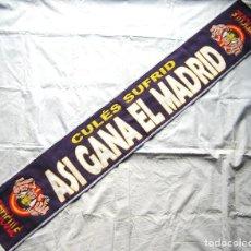 Coleccionismo deportivo: BUFANDA REAL MADRID ANTI CULE ULTRAS SUR CULES SUFRIR ACRILICA NUEVA SCARF SCIARPA ECHARPE. Lote 212063853