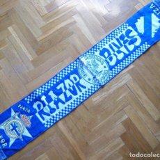 Coleccionismo deportivo: BUFANDA RIAZOR BLUES DEPORTIVO A LA CORUÑA ACRILICA ORIGINAL SCARF SCHAL SCIARPA ECHARPE R. Lote 191822315