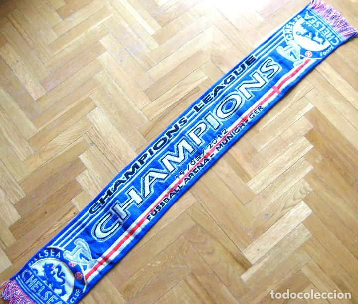BUFANDA CHELSEA FC CHAMPIONS LEAGUE WINNER 2012 ACRILICA A ESTRENAR ORIGINAL SCARF SCHAL (Coleccionismo Deportivo - Material Deportivo - Fútbol)