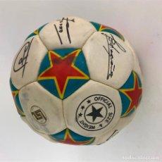 Coleccionismo deportivo: PELOTA DE FUTBOL CON FIRMAS IMPRESAS, ESPAÑA.. Lote 192215487