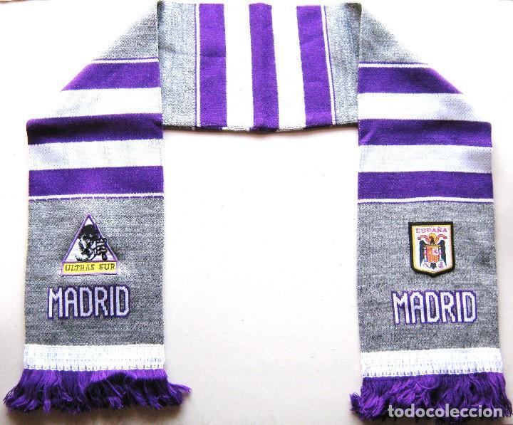 BUFANDA ULTRAS SUR REAL MADRID COLOR GRIS ACRILICA A ESTRENAR SCARF SCHAL SCIARPA ECHARPE R (Coleccionismo Deportivo - Material Deportivo - Fútbol)