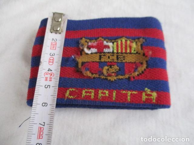 Coleccionismo deportivo: Brazalete capitán del FC Barcelona - capità Barça fútbol culé - Foto 4 - 193438808