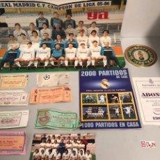 Coleccionismo deportivo: LOTE DEL REAL MADRID ENTRADAS Y MÁS VER FOTOS. Lote 193975978