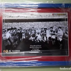Coleccionismo deportivo: CUADRO PARA COLECCIONISTA DEL PASILLO DEL REAL MADRID AL BARCELONA 1991. Lote 194692681