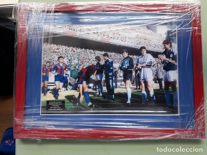 CUADRO PARA COLECCIONISTA DEL PASILLO DEL REAL MADRID AL BARCELONA 1991 (Coleccionismo Deportivo - Material Deportivo - Fútbol)