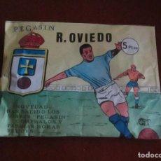 Coleccionismo deportivo: SOBRE SORPRESA FUTBOL PEGASIN REAL OVIEDO. Lote 196964412