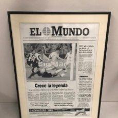 Coleccionismo deportivo: EL MUNDO CRECE LA LEYENDA ENMARCADA. Lote 197576960