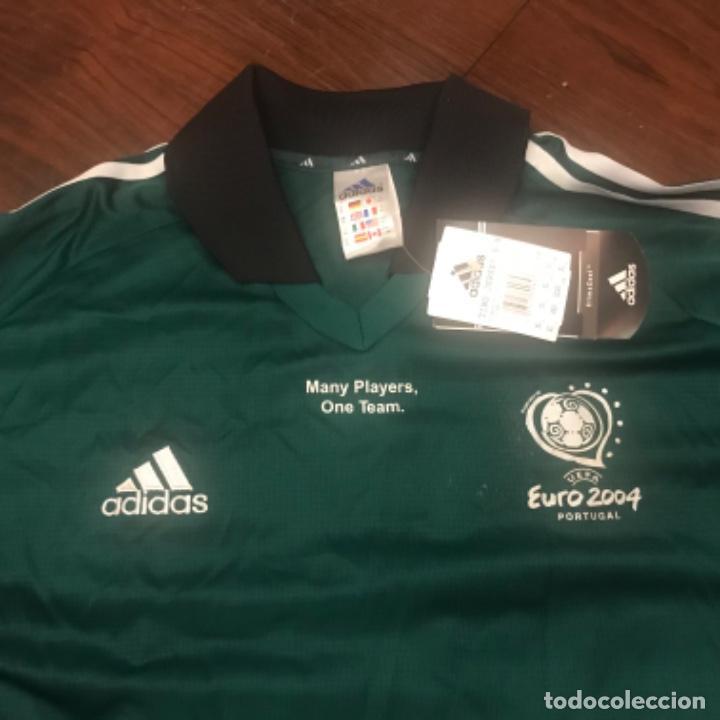 Coleccionismo deportivo: Camiseta Fútbol Coca-Cola Euro 2004. Adidas. Many Players One Team - Foto 4 - 197674548