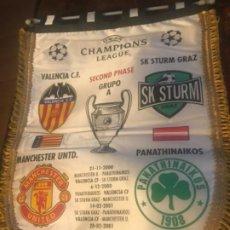 Coleccionismo deportivo: BANDERÍN UEFA CHAMPIONS LEAGUE. VALENCIA CF SEGUNDA FASE. GRUPO A. Lote 197676247