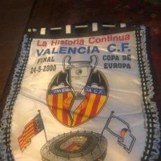 Coleccionismo deportivo: BANDERÍN FINAL COPA DE EUROPA VALENCIA CF REAL MADRID. PARÍS. CHAMPIONS LEAGUE. Lote 197676517