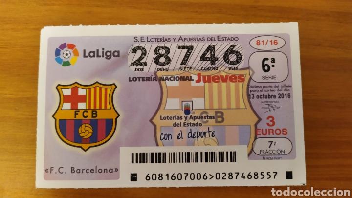 DÉCIMO DE LOTERÍA DEL FC BARCELONA. ESCUDOS DE PRIMERA DIVISIÓN (Coleccionismo Deportivo - Material Deportivo - Fútbol)