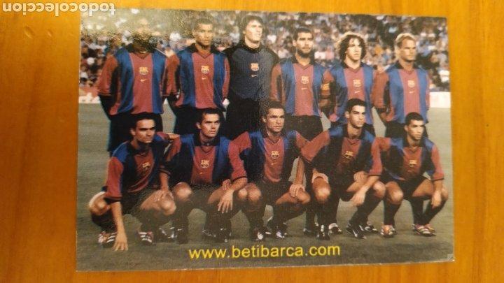 Coleccionismo deportivo: LOTE 2 CALENDARIOS DEL FC BARCELONA - Foto 2 - 197790240